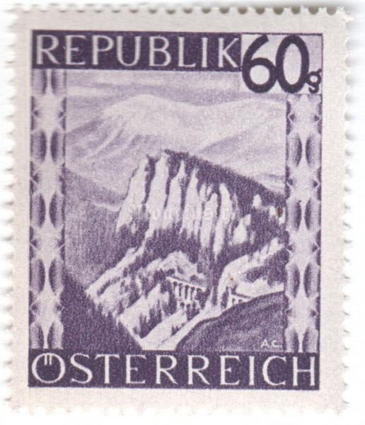"марка Австрия 60 грош ""Semmering (Lower Austria)"" 1945 год"