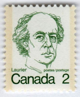"марка Канада 2 цента ""Wilfrid Laurier"" 1973 год"