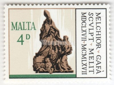 "марка Мальта 4 пенни ""St Thomas of Villanova"" 1967 год"