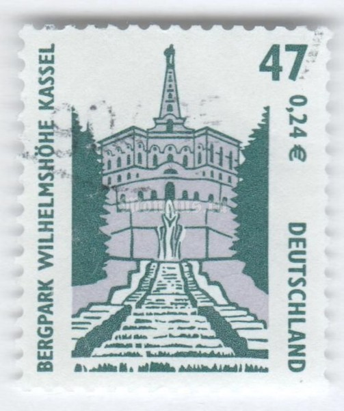 "марка ФРГ 47 пфенниг ""Mountain park Williamheight, Kassel"" 2001 год Гашение"